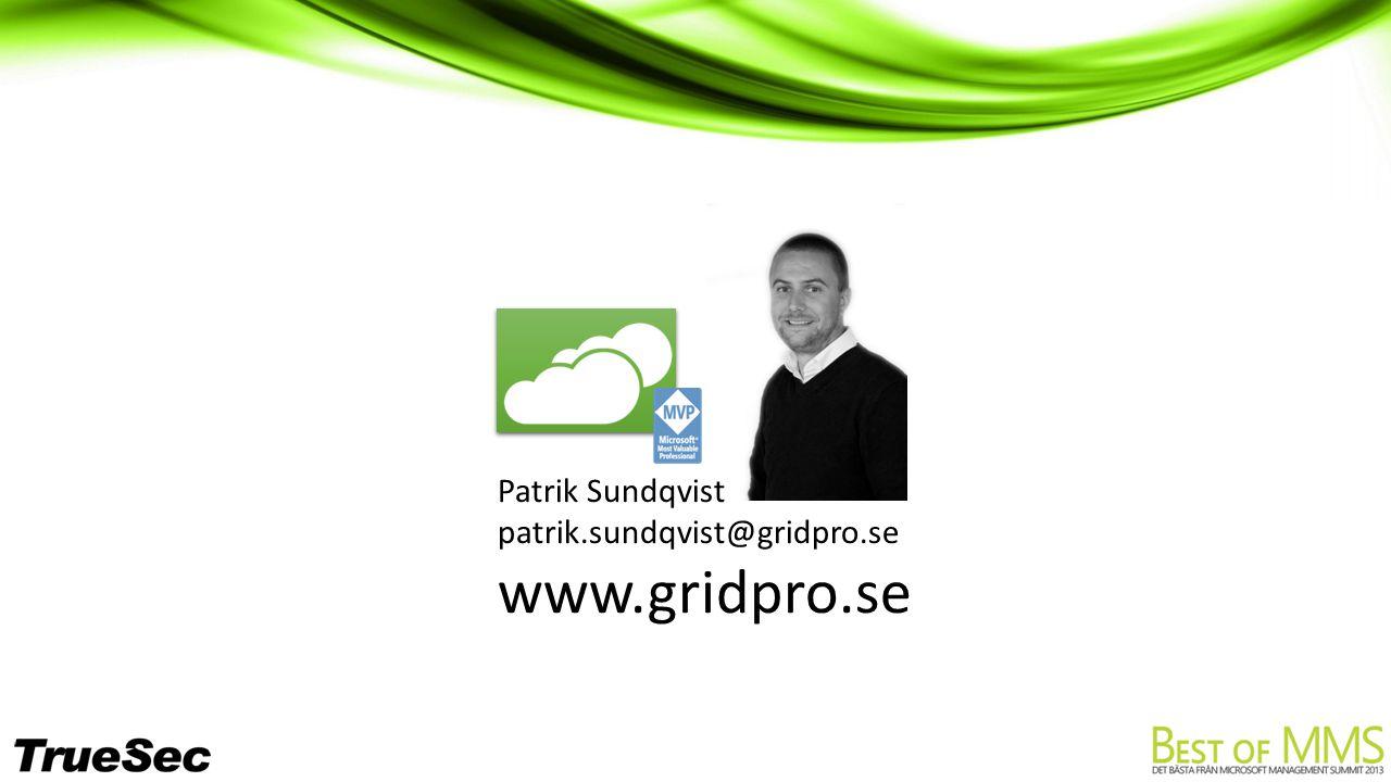 patrik.sundqvist@gridpro.se www.gridpro.se