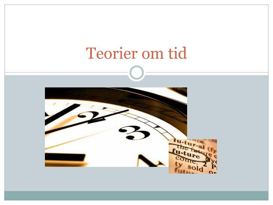 Teorier om tid: idag 1.Översikt: Metafysiska teorier om tid 2.