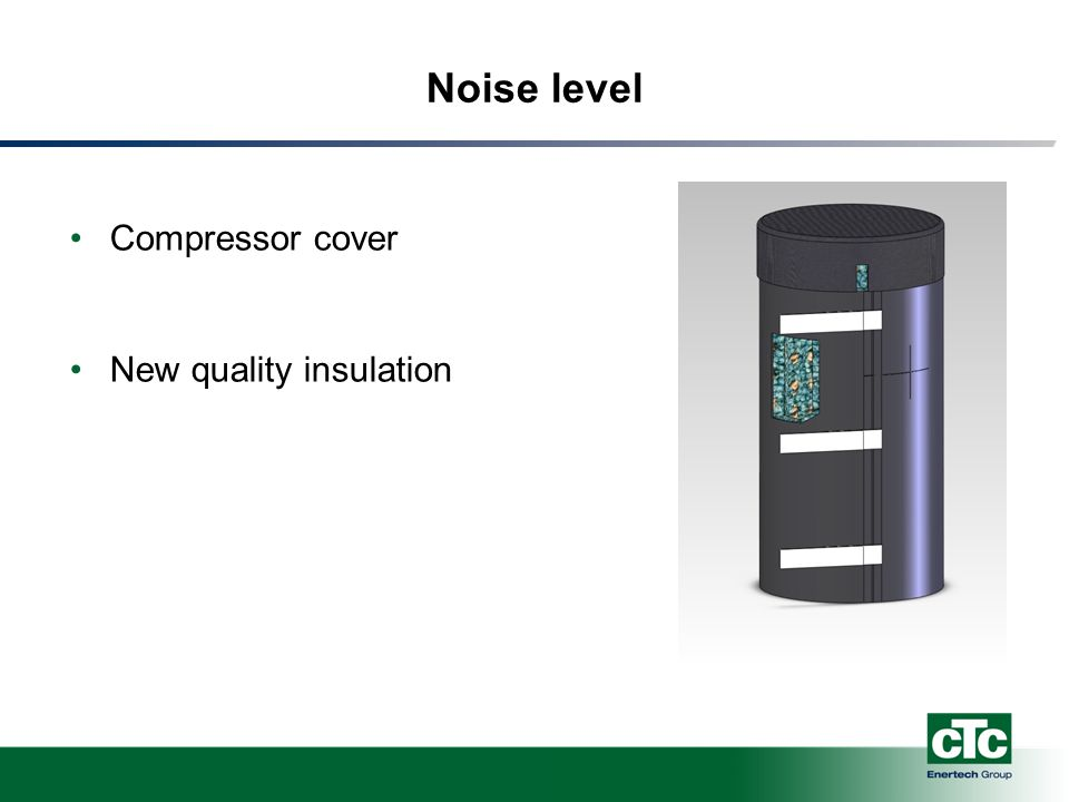 Noise level Compressor cover New quality insulation