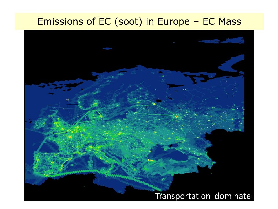 3/9/2008WP 1.331 Transportation dominate Emissions of EC (soot) in Europe – EC Mass