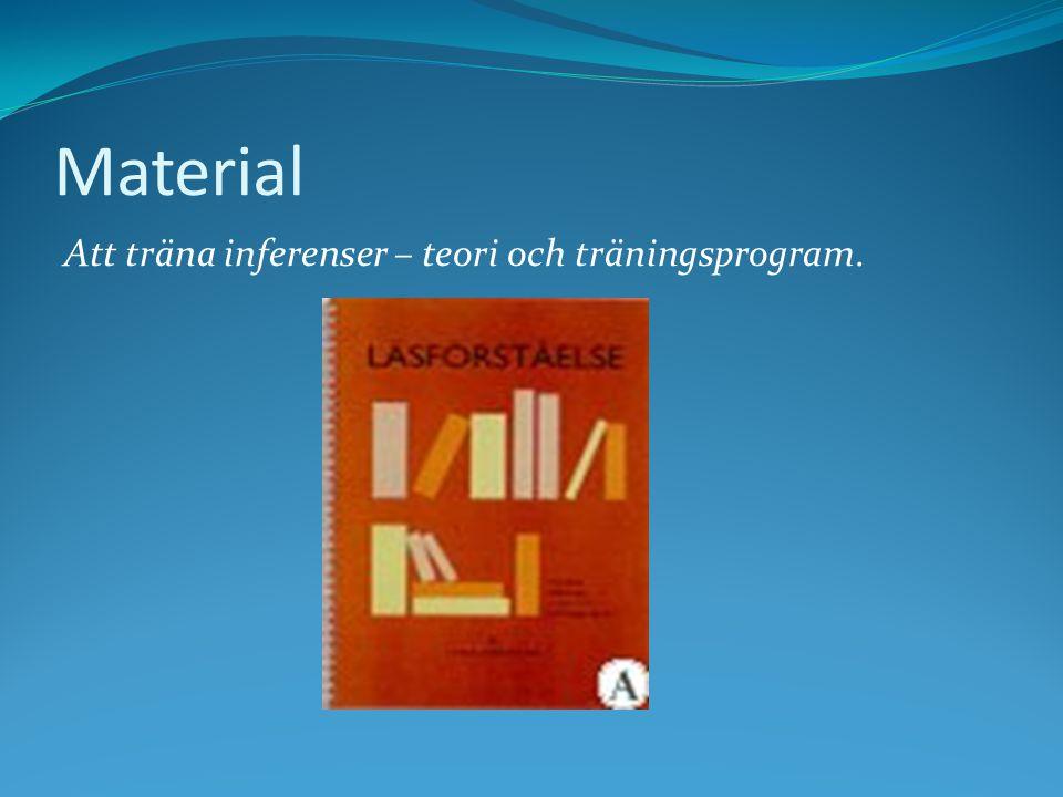 Material Att träna inferenser – teori och träningsprogram.