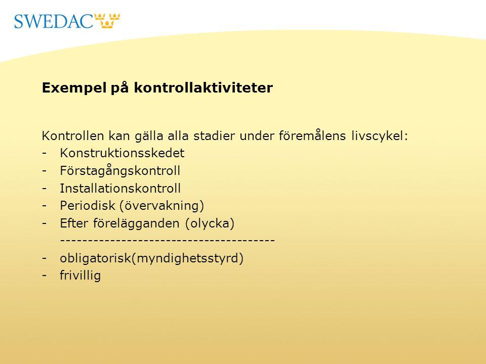Regler för återkommande kontroll av vågar STAFS 2007:19 Swedacs föreskrifter om återkommande kontroll av icke-automatiska vågar resp.