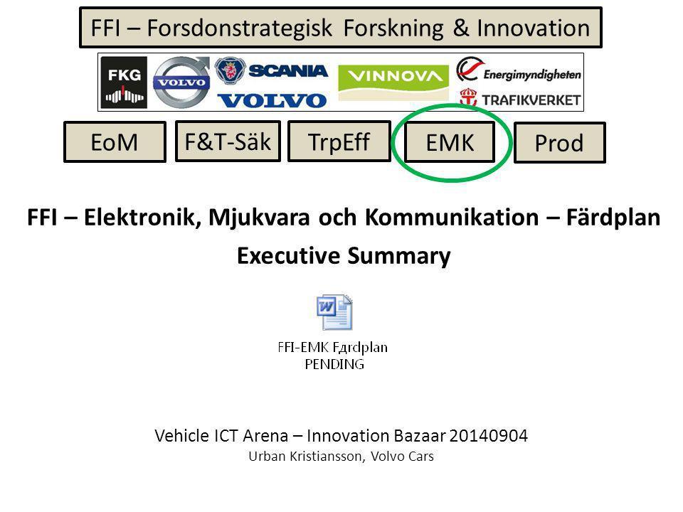 Volvo Cars – FFI-projekt under beredning mot 15 oktober