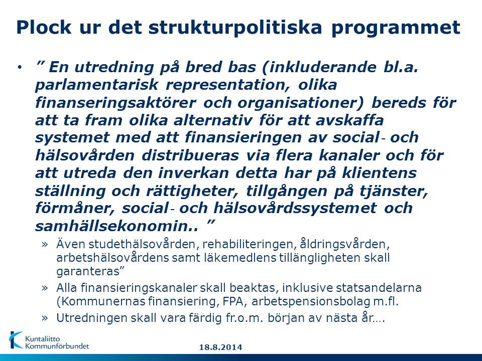 Plock ur det strukturpolitiska programmet En utredning på bred bas (inkluderande bl.a.