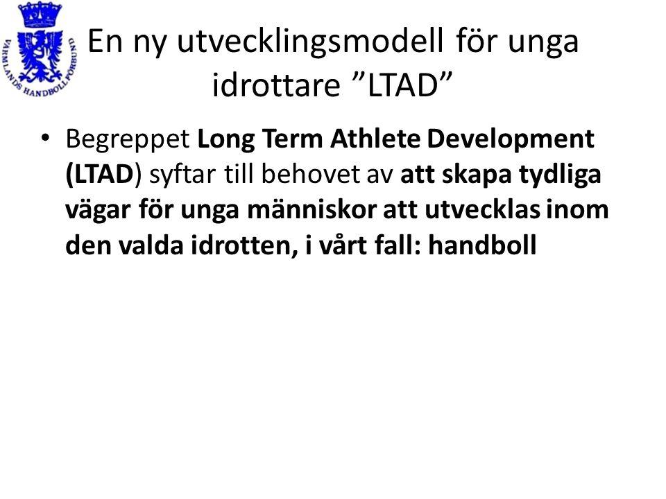 """En ny utvecklingsmodell för unga idrottare """"LTAD"""" Begreppet Long Term Athlete Development (LTAD) syftar till behovet av att skapa tydliga vägar för un"""