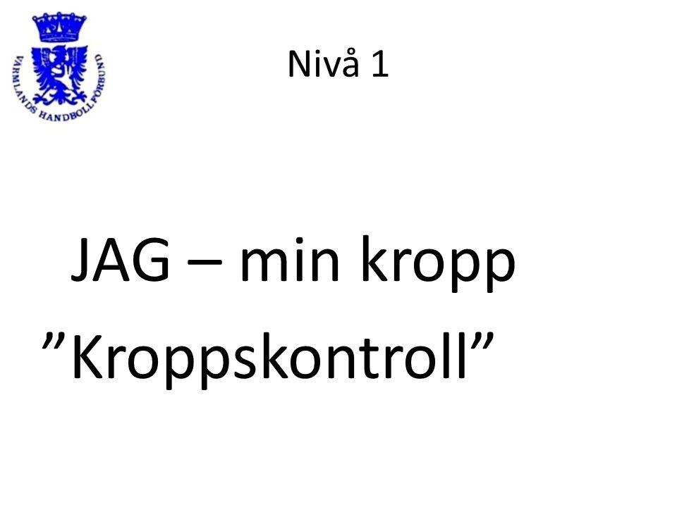 """Nivå 1 JAG – min kropp """"Kroppskontroll"""""""