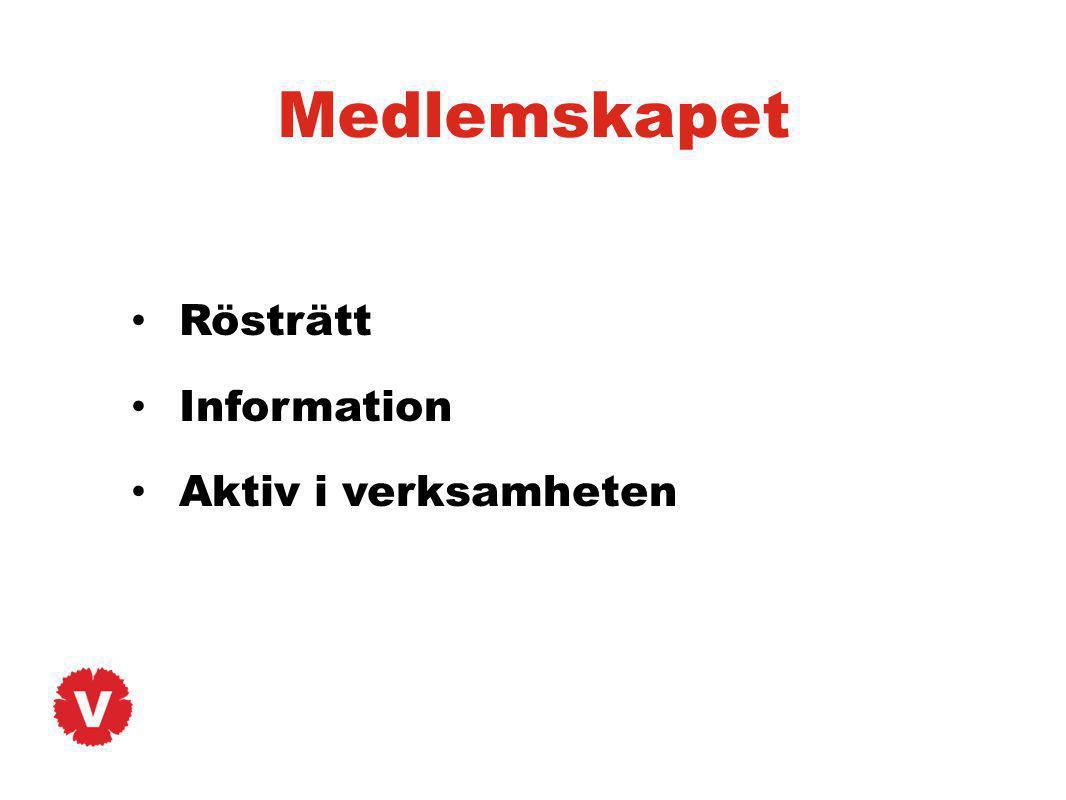 Medlemskapet Rösträtt Information Aktiv i verksamheten