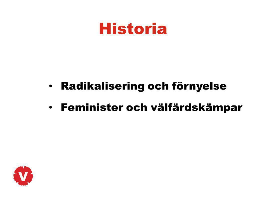 Historia Radikalisering och förnyelse Feminister och välfärdskämpar
