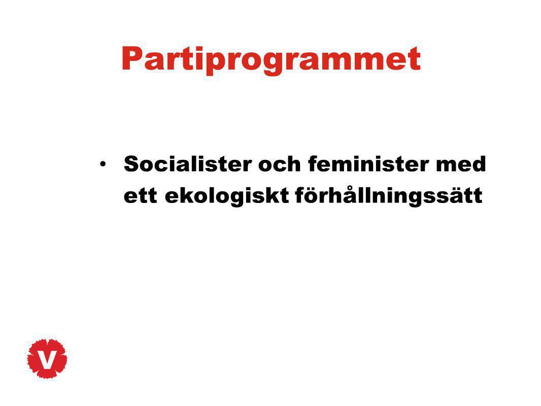 Partiprogrammet Socialister och feminister med ett ekologiskt förhållningssätt