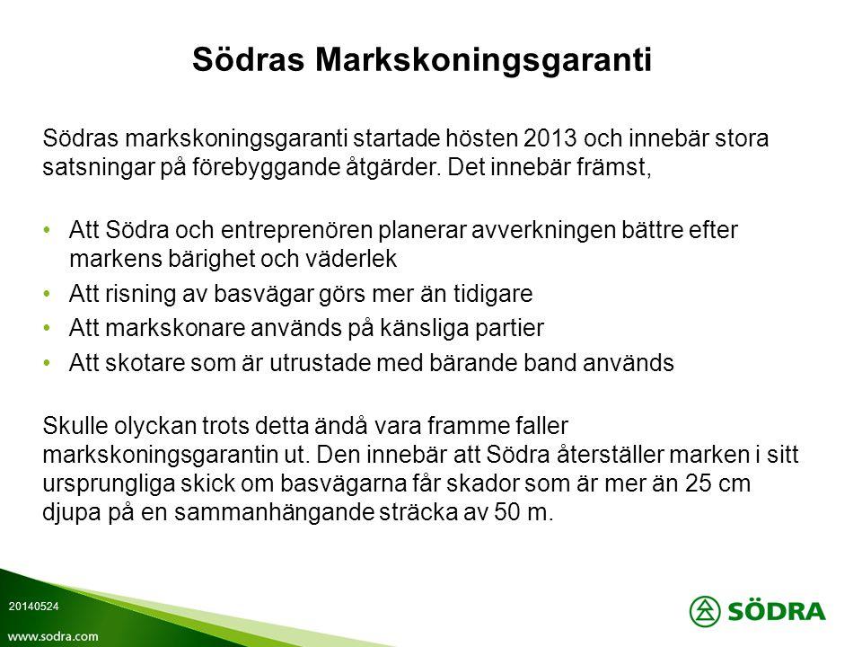 Södras Markskoningsgaranti Södras markskoningsgaranti startade hösten 2013 och innebär stora satsningar på förebyggande åtgärder.