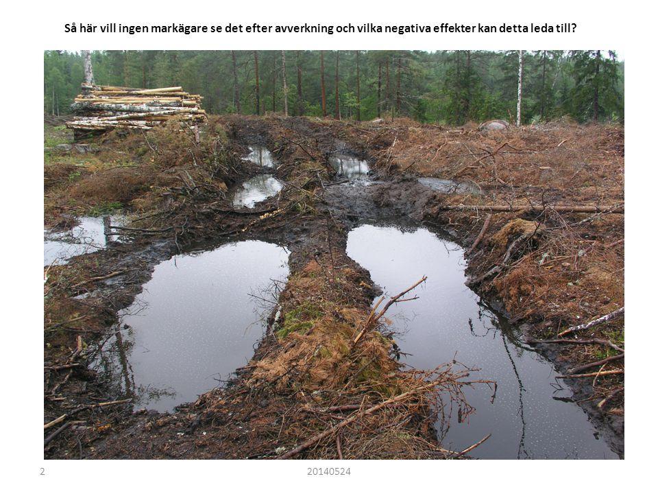 Så här vill ingen markägare se det efter avverkning och vilka negativa effekter kan detta leda till.