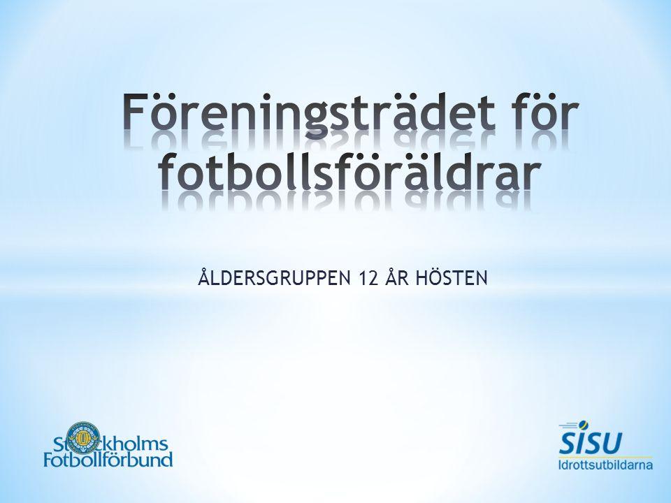 Viktiga ledord ur Fotbollens spela, lek och lär - sett ur föreningens synvinkel Ungdomar i åldern 13 till 19 år, som har speciella förutsättningar, färdigheter och vilja, ska särskilt kunna utveckla sin talang Fotbollsverksamheten ska utvecklas tillsammans med föreningar, skolan och föräldrar Stockholms Fotbollförbund tillhandahåller stöd för sina kvalitetssäkrade samarbetsskolor.
