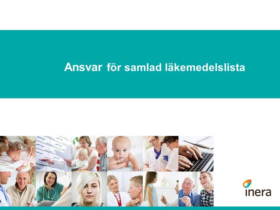 Ansvar för samlad läkemedelslista