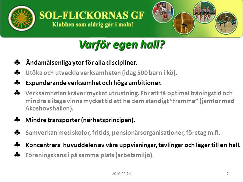 8 Behov, flexibilitet, kostnader  Lokalen i Fruängen har alla förutsättningar av behov och önskemål.