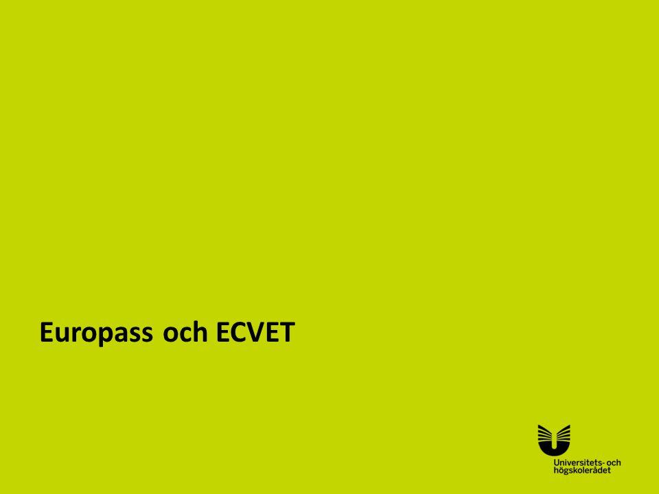 Sv Europass och ECVET