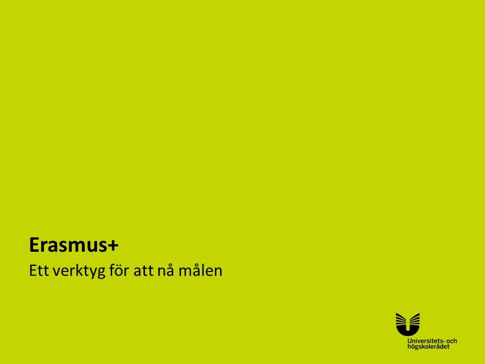 Sv Erasmus+ Ett verktyg för att nå målen