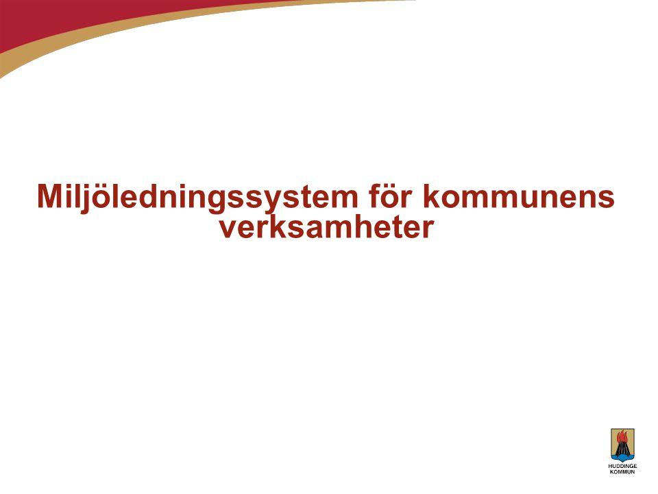 Miljöledningssystem för kommunens verksamheter