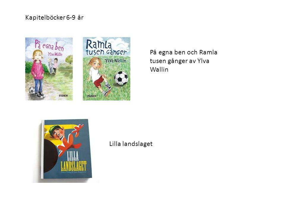 På egna ben och Ramla tusen gånger av Ylva Wallin Kapitelböcker 6-9 år Lilla landslaget