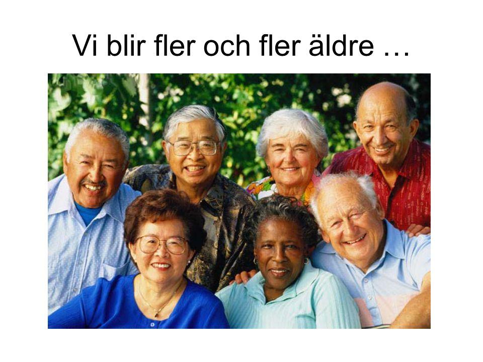 Vi blir fler och fler äldre …