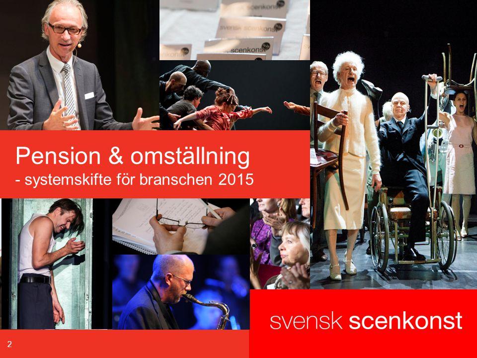 2 Pension & omställning - systemskifte för branschen 2015