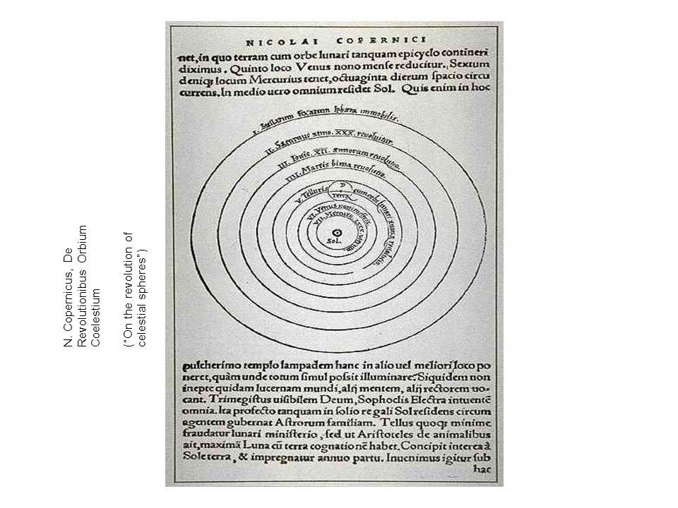 """N. Copernicus, De Revolutionibus Orbium Coelestium (""""On the revolution of celestial spheres"""")"""