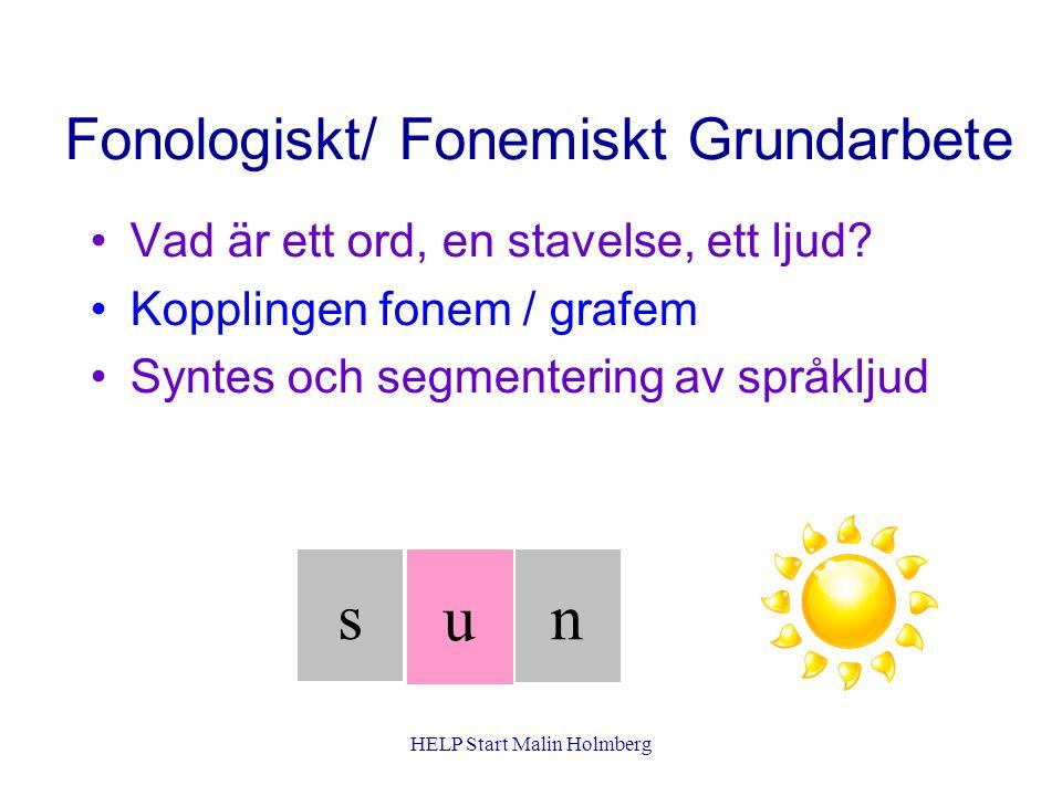 Fonologiskt/ Fonemiskt Grundarbete Vad är ett ord, en stavelse, ett ljud.