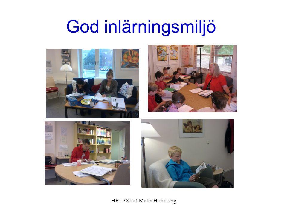 God inlärningsmiljö HELP Start Malin Holmberg