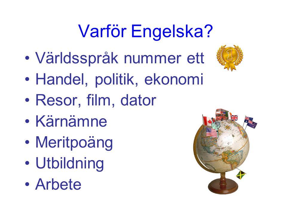 Räcker det inte att eleverna kan tala och förstå engelska? HELP Start Malin Holmberg