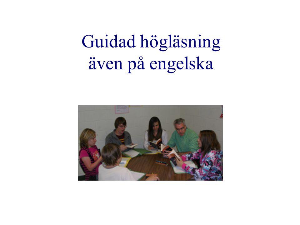 Guidad högläsning även på engelska HELP Start Malin Holmberg