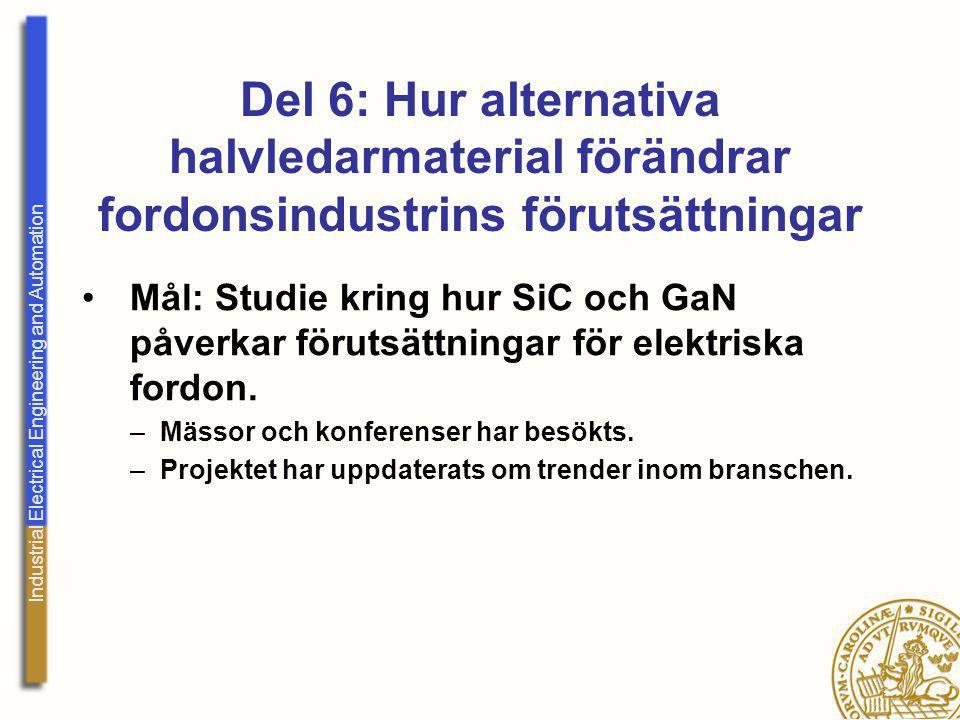 Industrial Electrical Engineering and Automation Del 6: Hur alternativa halvledarmaterial förändrar fordonsindustrins förutsättningar Mål: Studie krin