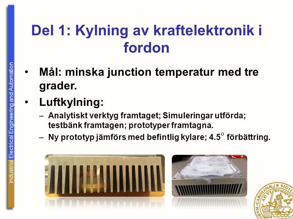 Industrial Electrical Engineering and Automation Del 2.1: Kylning av elmotorer i fordon (Volvo Tech.) Mål: Öka kunskapen om kylning av elektriska maskiner.