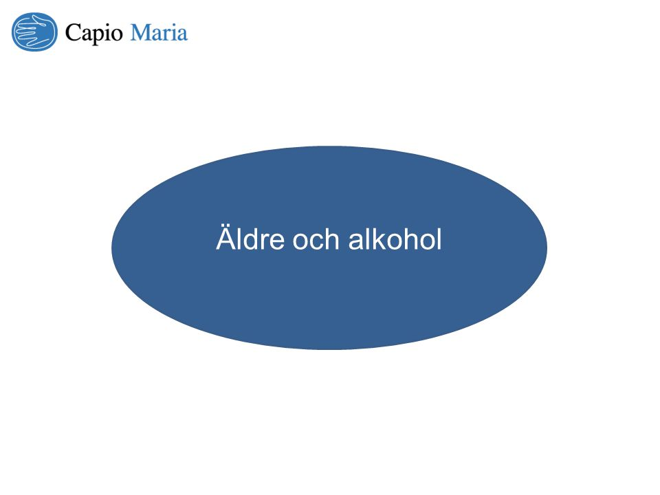 Allt fler äldre dricker för mycket alkohol och riskerar att bli beroende Patienter i åldern 60 – 79 år som vårdas med en diagnos som kan relateras till hög alkoholkonsumtion har ökat kraftigt under perioden 2000 – 2010 Ökningen uppgår till 45 procent för både män och kvinnor.