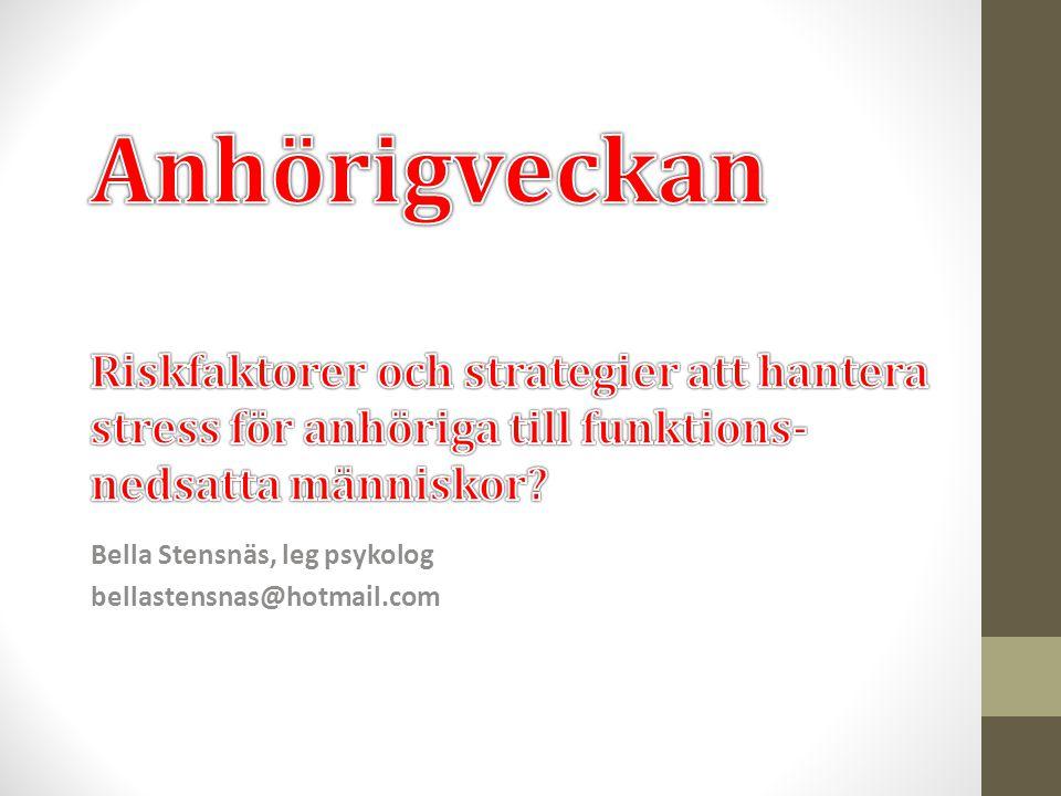 Bella Stensnäs, leg psykolog bellastensnas@hotmail.com