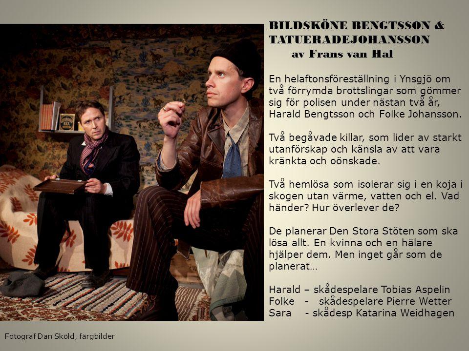 BILDSKÖNE BENGTSSON & TATUERADEJOHANSSON av Frans van Hal En helaftonsföreställning i Ynsgjö om två förrymda brottslingar som gömmer sig för polisen u