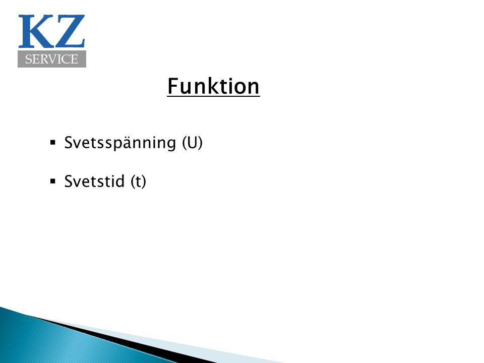 Funktion  Svetsspänning (U)  Svetstid (t)