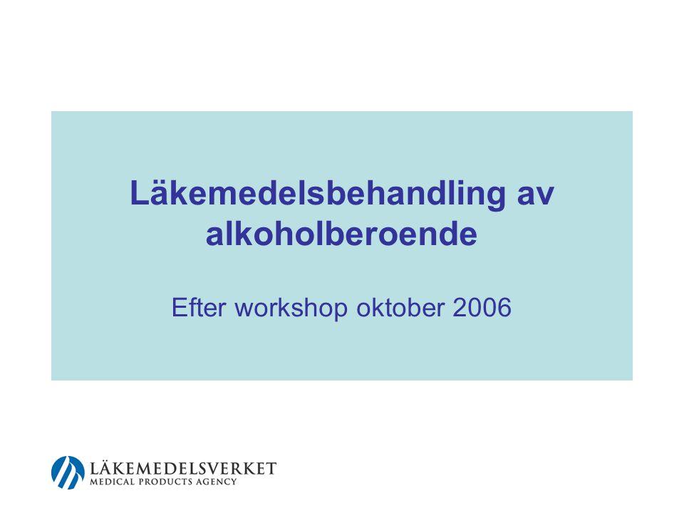 2 Förekomst Ca 5 % (punktprevalens) av Sveriges vuxna befolkning beräknas ha beroende enligt ICD 10 och DSMIV (Minst tre kriterier uppfyllda under samma år)