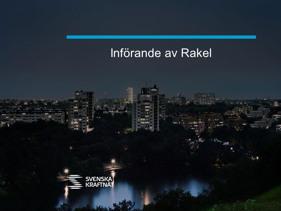 Införande av Rakel