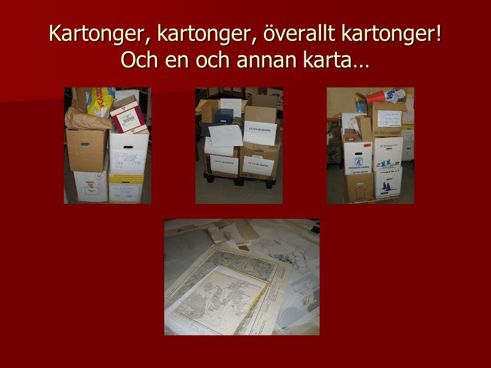 Kartonger, kartonger, överallt kartonger! Och en och annan karta…