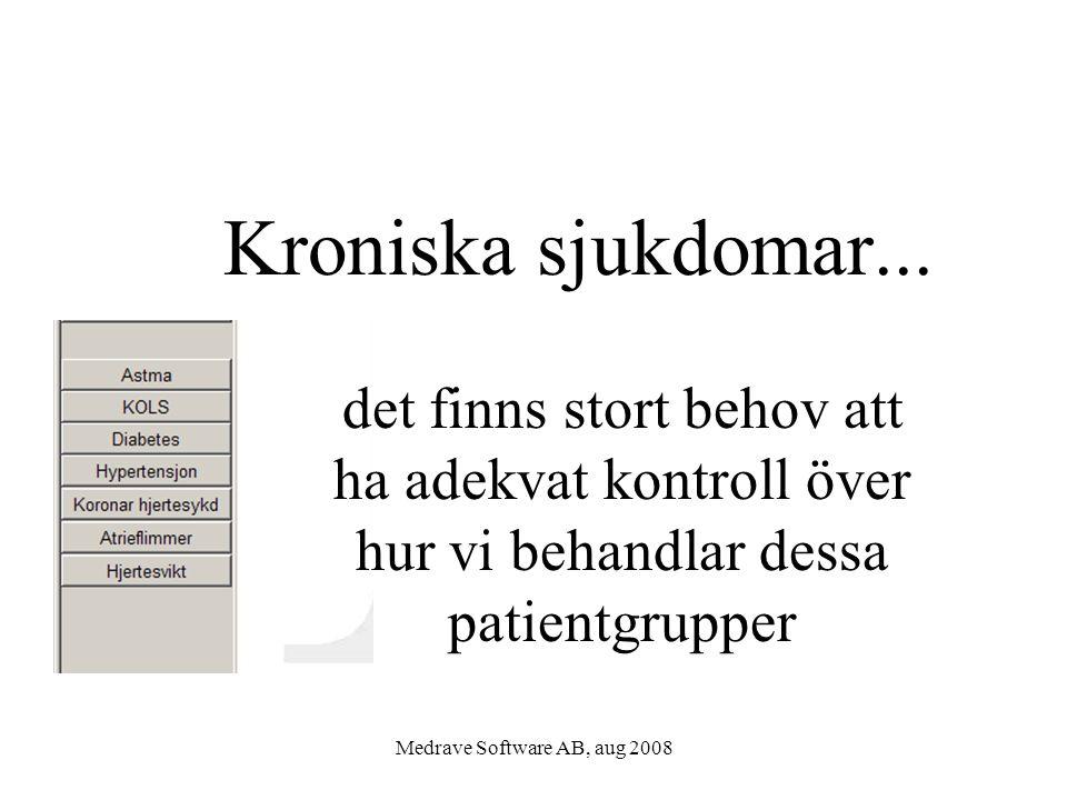 Medrave Software AB, aug 2008 Kroniska sjukdomar...