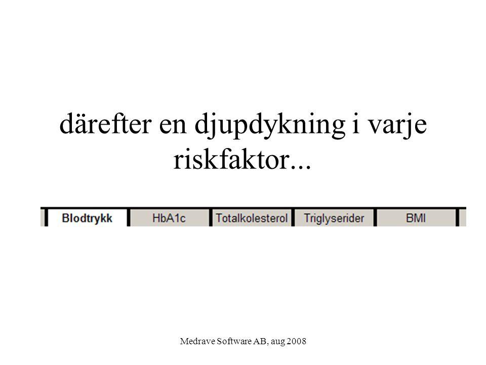 Medrave Software AB, aug 2008 därefter en djupdykning i varje riskfaktor...