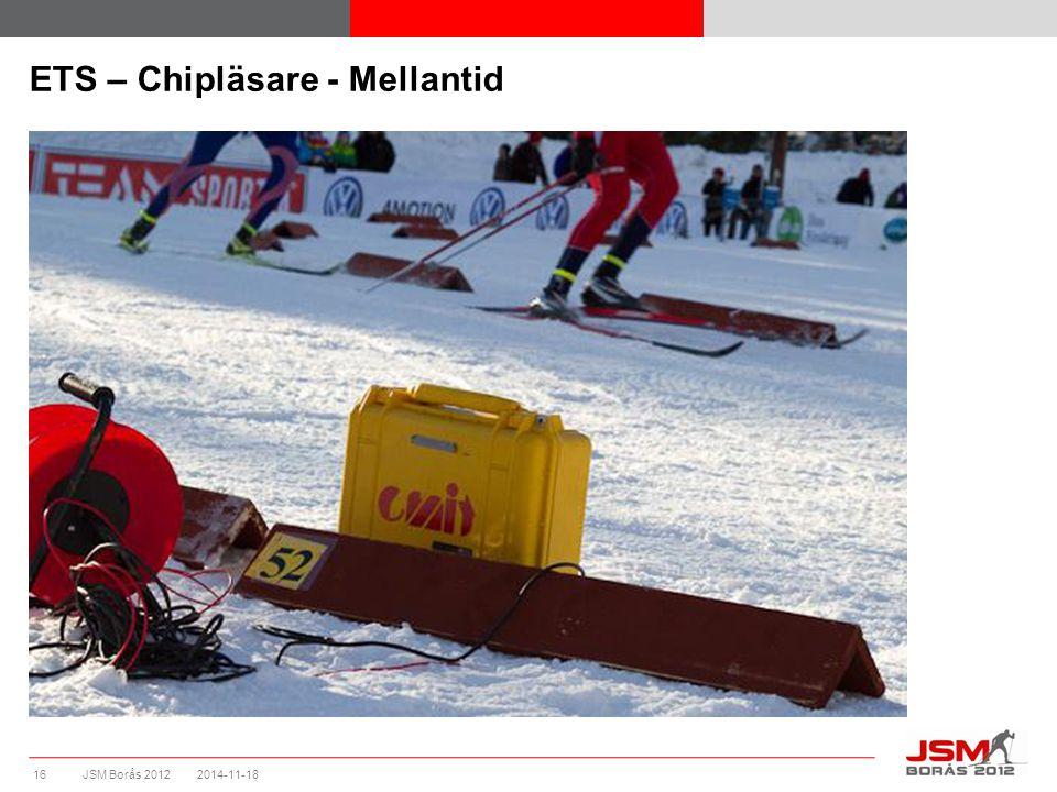 JSM Borås 2012 ETS – Chipläsare - Mellantid 2014-11-1816