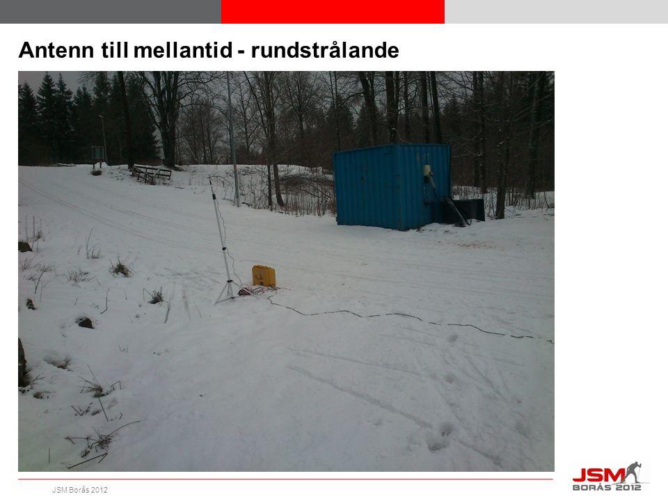JSM Borås 2012 Antenn till mellantid - rundstrålande