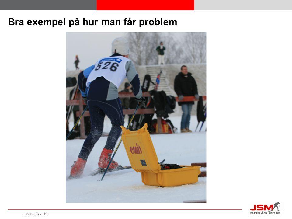 JSM Borås 2012 Bra exempel på hur man får problem