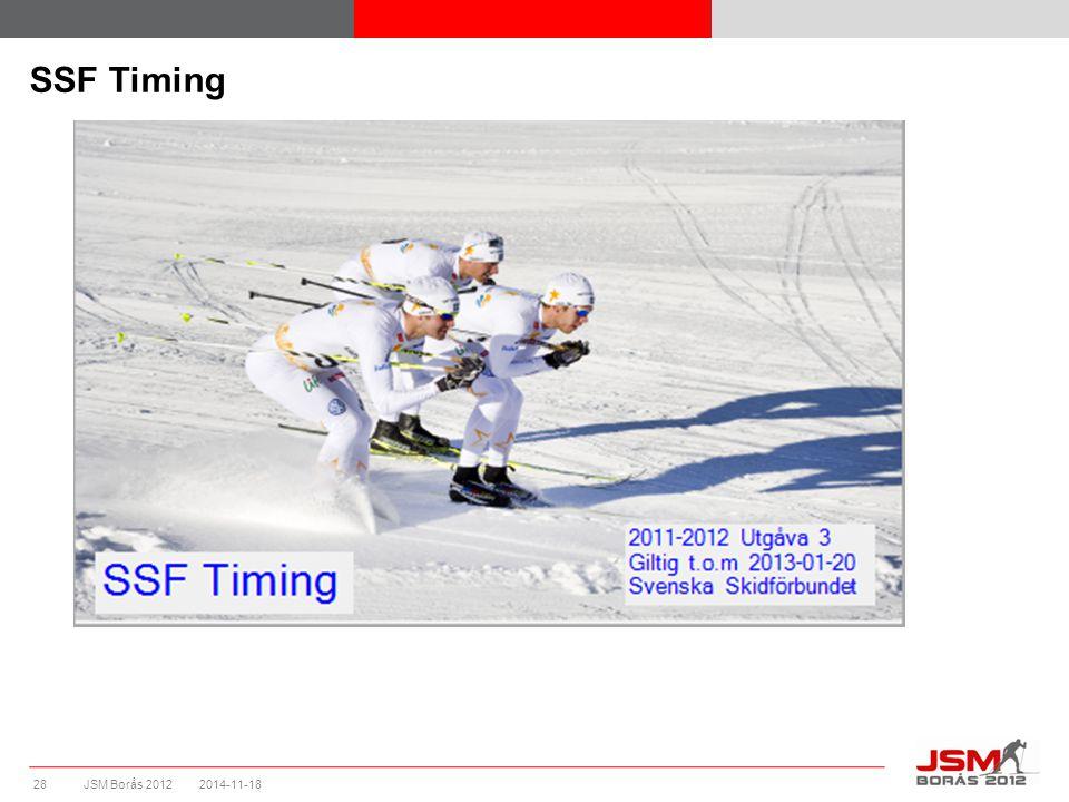 JSM Borås 2012 SSF Timing 2014-11-1828