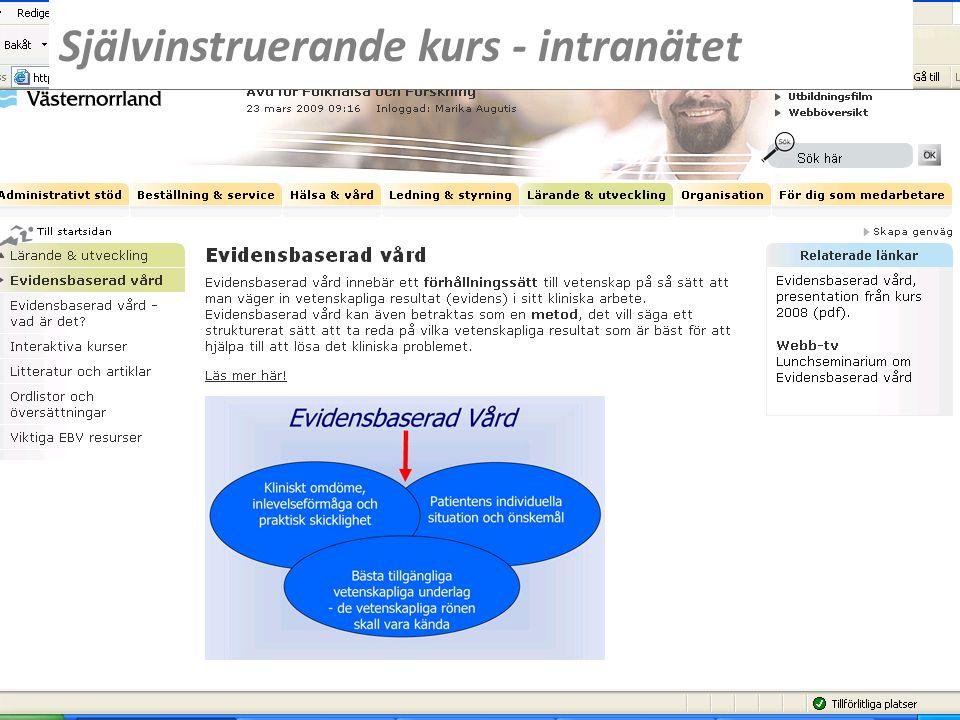 www.lvn.se Självinstruerande kurs - intranätet