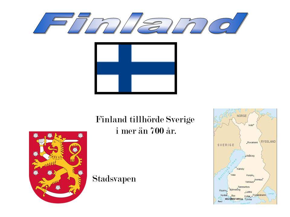 Finland tillhörde Sverige i mer än 700 år. Stadsvapen