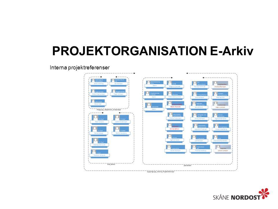 PROJEKTORGANISATION E-Arkiv Externa projektreferenser
