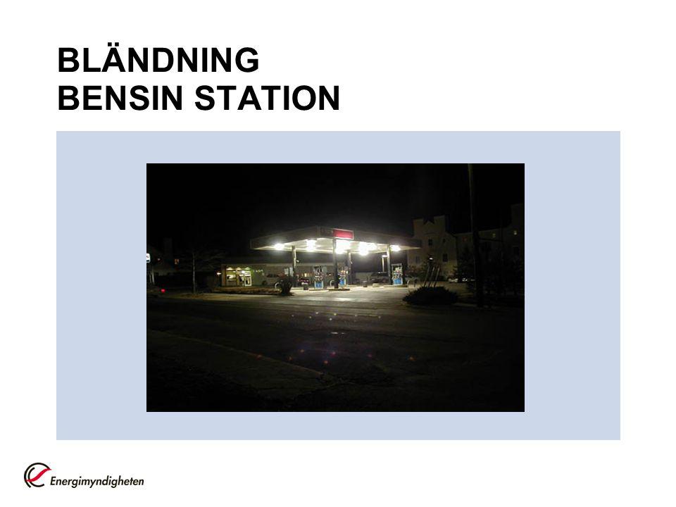 BLÄNDNING BENSIN STATION