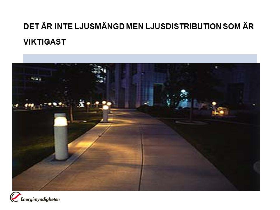 DET ÄR INTE LJUSMÄNGD MEN LJUSDISTRIBUTION SOM ÄR VIKTIGAST
