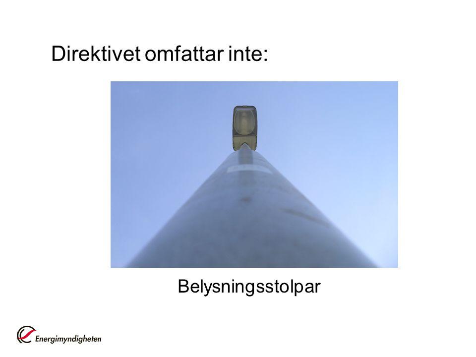 Belysningsstolpar